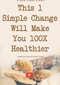 This INSANELY Simple Change Will Make You 100X Healthier. A two minute vid (eat at home)