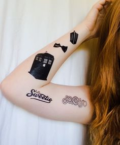 #DoctorWho Temporary tattoos!  20 Fantastic Hand-Made Doctor Who Gifts Under $20