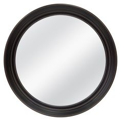 Your reflection has come full circle! Round out any room of your home with this Deep Round Mirror in Black from Threshold. Frame features distressed finish, wipes clean with glass cleaner and cloth. Home Decor Wall Art, Home Decor Items, Round Mirrors, Circle Mirrors, Wall Mirrors, Black Mirror, Fireplace Mantels, Home Buying, Wall Prints