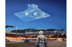 """""""Star Destroyer"""" Original Star Wars Artwork by Scott Listfield"""