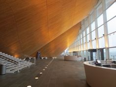 Kilden Performing Arts Centre - Foyer Interior - The architects wanted to create a warm and inviting foyer space.