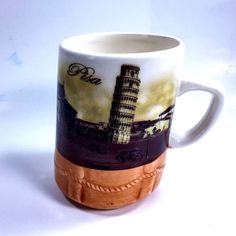 Unique Leaning Tower Of Pisa Coffee Mug Tea Cup Italy Italian Souvenir #Unbranded