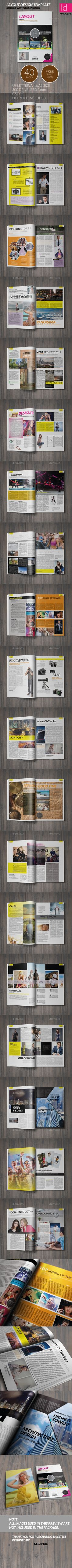 Magazine Template - 40 Pages - Magazines Print Templates