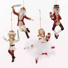 Kurt Adler Polyresin Nutcracker Suite Ornament Set of 4 Nutcracker Sweet, Nutcracker Ornaments, Nutcracker Christmas, Christmas Past, White Christmas, Christmas Holidays, New Years Decorations, Christmas Tree Decorations, Christmas Tree Ornaments