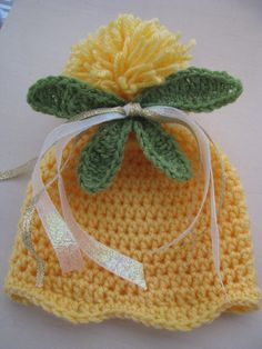 Think Tink- Tinkerbell Inspired Crochet Baby Hat. $15.00, via Etsy.