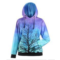 Cat Blue Eyes Neon Multicolor Hoodie New Hooded Sweatshirt Black