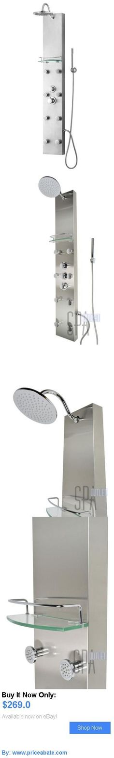 Massagers: Thermostatic Shower Panel Stainless Steel 8 Body Spa Jets Rainfall Shower Head BUY IT NOW ONLY: $269.0 #priceabateMassagers OR #priceabate