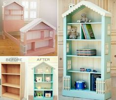 How to DIY Doll House Book Case