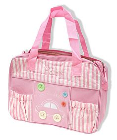 Love This Pink Stripe Cars Diaper Bag By JumpN Splash On Zulily