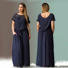 Short Sleeve Lace Summer Plus Size Long Maxi Party Dress LAVELIQ