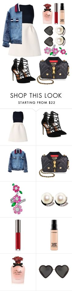 """""""Untitled #152"""" by ivanov1234491 ❤ liked on Polyvore featuring Kate Spade, Steve Madden, Jamie Wei Huang, Moschino, Van Cleef & Arpels, Chantecaille, MAC Cosmetics, Dolce&Gabbana and Markus Lupfer"""