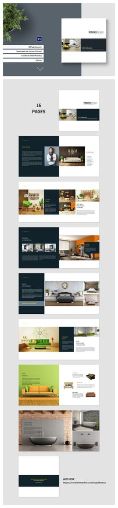 PSD - Square Interior Brochure by tujuhbenua on @creativemarket