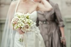 pink & white bouquet, freesia, roses