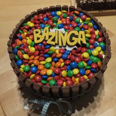 Bazinga cake, lots and lots of m&m's and kit kat... Bazinga!!!
