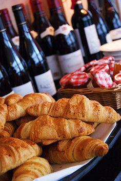 Croissants & Wine . Yumm