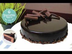 Mirror Glaze Brownie Mousse Cake | Eggless - YouTube