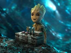 I am groot. Nooo that's the button that will kill everybody try again. I am groot? I am groot? I am groot. Marvel Dc Comics, Marvel Heroes, Marvel Characters, Marvel Movies, Marvel Avengers, Deadpool, Gardians Of The Galaxy, Groot Guardians, I Am Groot