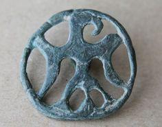 VIKING-Period-Bronze-Applique-Eagle-Scandinavian-Norse-Symbol-1000-AD