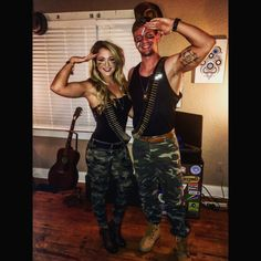 #halloween gi Joe and gi Jane costume