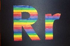 Letter craft - Rr is for Rainbow & more. St. Patrick's Day Themed fun