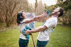 Engagement Pictures - Paint War. . .I would love to do this!!! <3