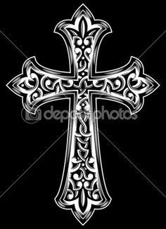 Antigo vetor cruz cristã — Vetor de Stock © vectorfreak #31673999