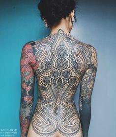 Amazing Full Back Tattoo Full Back Tattoos, Full Body Tattoo, Back Tattoo Women, Body Art Tattoos, Girl Tattoos, Sleeve Tattoos, Tattoos For Women, Tatoos, Star Tattoos