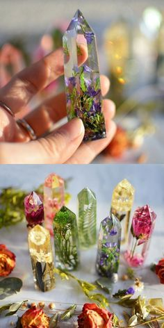Work with resin- Faux crystals w/ dried flowers - Work with resin- Faux crystals. - Mum's craft - Work with resin- Faux crystals w/ dried flowers – Work with resin- Faux crystals w/ dried flowers - Diy Resin Art, Diy Resin Crafts, Diy Art, Fun Crafts, Diy And Crafts, Diy Resin Projects, Epoxy Resin Art, Stick Crafts, Resin Molds