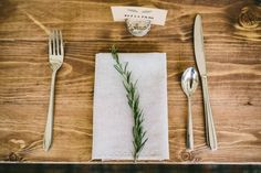 Using rosemary as table decor looks natural and earthy and smells nice too! Photo by Sam Docker