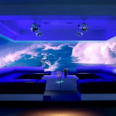 24, London by Julian Taylor Design Associates. Described as the very first fully interactive club, 24 uses advanced technology to create striking innovative backdrops to the club environment. Interactive projections allow customers to create and alter their environment. #jtda #interiors #interiordesign #design #24 #24London #bar #bardesign #barinteriors #barinteriordesign #digitalbar #modernbar #interactivebar #club #interactiveclub
