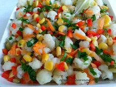 TUANA MUTFAK: KARNABAHAR SALATASI Salad Recipes, Food To Make, Food And Drink, Appetizers, Mexican, Cooking Recipes, Vegan, Meals, Ethnic Recipes