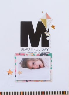 #papercrafting #scrapbook #layouts: M by Elena at @studio_calico