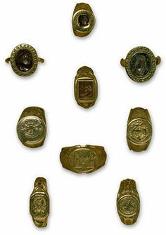 Collection of rings from Europe c. 1380, Victoria & Albert Museum Collection