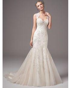 robe de mariage tulle sirene col en coeur
