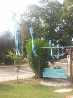 sharon eshet- my garden decorated for israel independence day הגינה שלנו לכבוד יום העצמאות 2015- חג שמח!