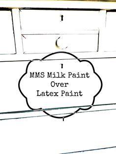 TIPS & TRICKS | milk paint over flat latex | Miss Mustard Seeds Milk Paint
