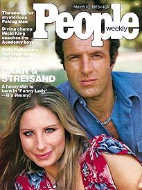 Barbra Streisand & James Caan on the cover of People Magazine March 1974 People Magazine, American Singers, American Actress, Singing Career, Bette Midler, Movie Magazine, Barbra Streisand, Old Magazines, A Star Is Born