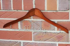Personalized Wedding Hangers for a Bride and her Bridal Party - diy