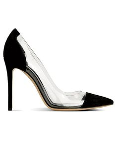 Fancy - plexiglass and suede heels? hmmm...
