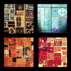 Collage of my paintings Atelier D Art, Nz Art, Maori Art, Nativity, Cool Art, Collage, Paintings, Culture, Cool Stuff