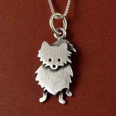 Pomeranian necklace by StickManJewelry on Etsy, $28.00  must get this!