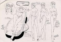 Living Lines Library: Kaubôi bibappu: Cowboy Bebop (TV Series - Model Sheets Character Model Sheet, Character Modeling, Character Concept, Concept Art, Character Design, Cowboy Bebop, Manga Anime, Anime Art, Faye Valentine