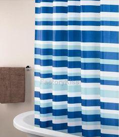 180x180 Stripe Waterproof Shower Curtain& 12 Free Hooks GBW #Factorykiss #Modern