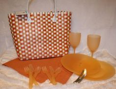 Amazon.com : Martha Stewart Picnic For 2 Set - 14 Pieces Included With Tote : Picnic Basket Sets : Patio, Lawn & Garden