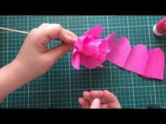 Crepe Paper Peony Flower Tutorial with Template | Creative DIY - YouTube