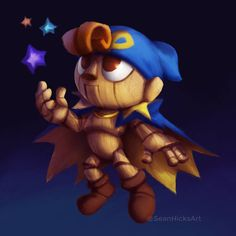 it's a painting of Geno from the Super Nintendo classic, Super Mario RPG. This was also an art prompt to test. Geno from Super Mario RPG Geno Super Mario Rpg, Super Mario Brothers, Super Mario Bros, Mario Und Luigi, Mother Games, Paper Mario, Video Game Art, Video Games, Art Prompts