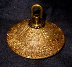 4 3 Fancy Solid Brass Chandelier Ceiling Canopy 1940 S Embossed Made In Spain On Back Side Stuff Pinterest