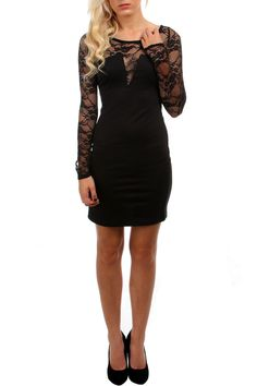 Lace Sleeve Dress. Maybe in red for my New Years dress =P