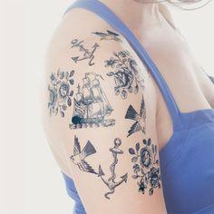 cartolina set (tattly temporary tattoos)