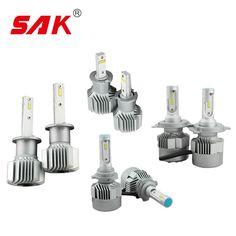 SAK 1pair CSP LED Headlight 48W 8000LM H4 H7 H11 H1 H3 9005 9006 9012 880 Car LED Headlights Bulb Head Lamp Fog Light White
